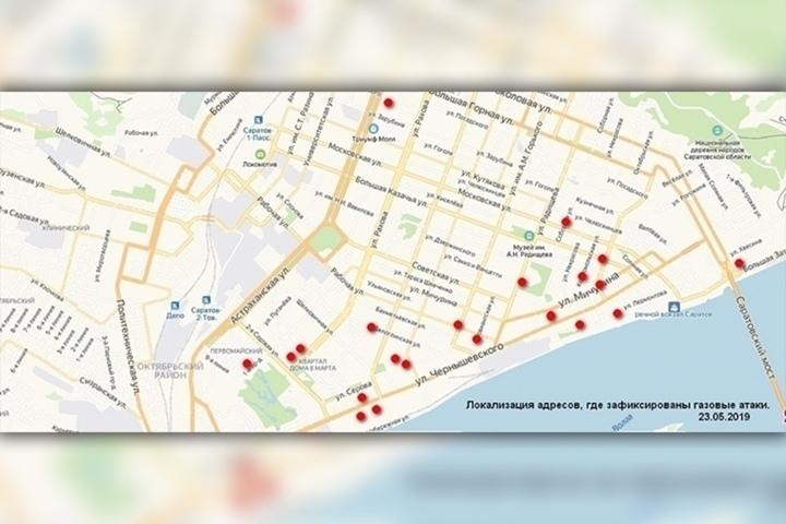 Саратовчанка решила составить карту районов города, в которых ощущается странный запах непонятного происхождения. Жители областного центра начали активно ее заполнять