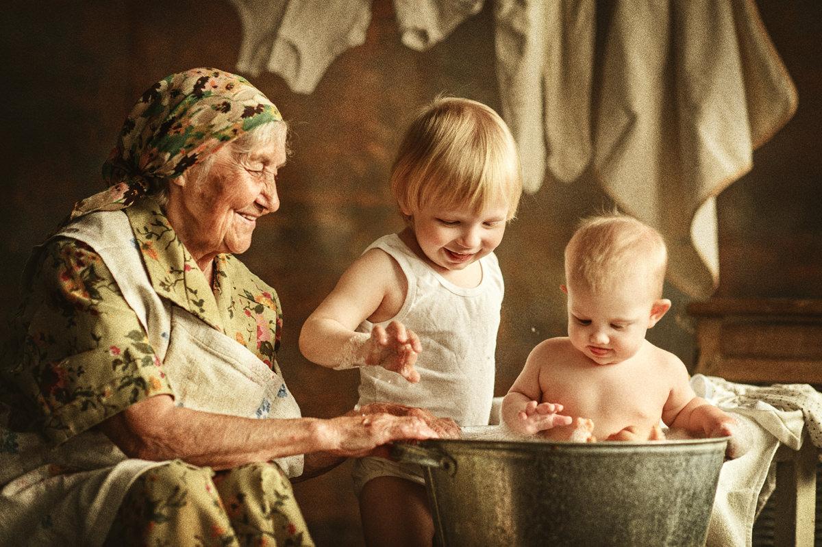 Картинки бабушки с ребенком