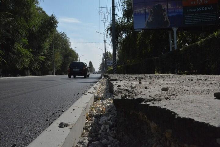 Масштабный ремонт тротуаров в Саратове. Местных подрядчиков потеснили фирмы из Краснодара и Пензы